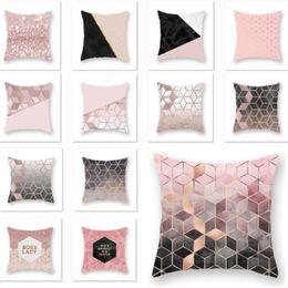 $enCountryForm.capitalKeyWord NZ - Chevor Rose Gold Geometric Pillowcase Cushion Cover Glamour Square Pillow Case Cushion Cover Home Sofa Car Decoration 45*45cm HH7-2019