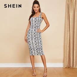 Shein Dresses Canada - SHEIN Multicolor Party Sexy Backless Snake Skin  Print Sleeveless Skinny Club Dress 9493e7112