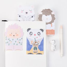 Lion pad online shopping - 36 Cartoon animal sticky note Panda Lion memo pad Index stickers diary planner stationery office supplies school