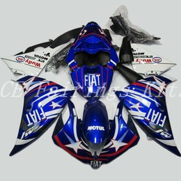 Yamaha R1 Fairings Fiat Australia - High quality New ABS motorcycle fairings fit for YAMAHA YZF R1 2009 2010 2011 2012 R1 09 10 11 12 YZF1000 fairing kits custom blue FIAT