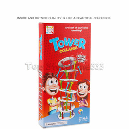Tower Blocks Australia - Tower Collapse Children Early Childhood Intelligence Wooden Building Block Toy Suck Stick Board Learning Education Funny Game