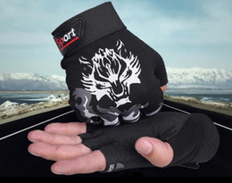 Leather Gloves For Men Australia - Men and women's thin half-fingered gloves for cycling anti-skid finger gloves for outdoor sports sunscreen gloves