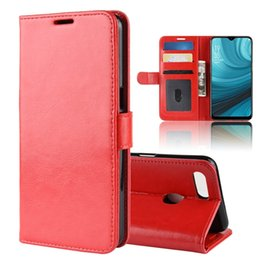 China For OPPO A7 AX7 Elephone A5 Lite Crazy Horse Flip Wallet Leather Pouch Case Stand TPU ID Card Holder Photo Frame Mad Skin Cover Fashion 2pcs cheap oppo pouches suppliers