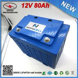 $enCountryForm.capitalKeyWord NZ - Hot Selling 12V 80Ah Li ion LiFePO4 Battery for Bike Bicycle EV HEV Car scooter UPS Streetlamp solar system FREE SHIPPING