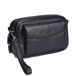 Hand pHone organizer online shopping - High Quality Genuine Natural Leather Hand Bag Men Casual Long Wallet Purse Inch Mobile Cell Phone Male Handy Clutch Bags New