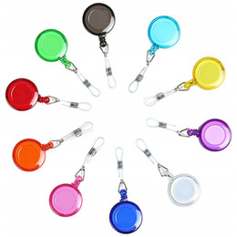 10pcs Lot Retractable Badge Holder Reel Clip with ID Card Holders for ID Cards Key Keychain Keep Cell phone Safe