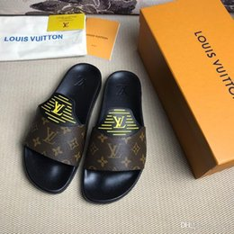 12 Gear Australia - NEW Designer slipper Gear bottoms mens striped sandals causal Non-slip summer huaraches slippers flip flops slipper BEST QUALITY US 7-12