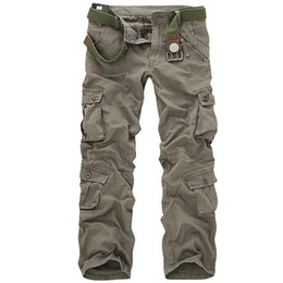 $enCountryForm.capitalKeyWord UK - Men Tactical Military Pants Male Casual Multi-pockets Overalls Loose Style Trousers Mens Fashion Cargo Outwear Camouflage Pants Y190413