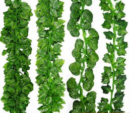 Wholesale Green Artificial Leaf Fake Hanging Faux Vine Plant Leaves Foliage Flower Garland Home Garden Wall Hanging Decoration IVY Vine