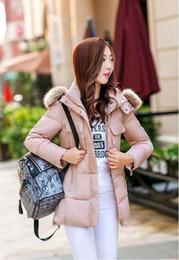 $enCountryForm.capitalKeyWord NZ - Free shipping 02 winter Korean fashion down coat women's large size thickening slim slimming large fur collar long cotton women