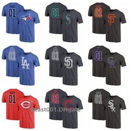 Jays Mariners Giants Padres Dodgers Rockies Indians Reds Sox 2019 Father Day T-Shirt Tri-Blend più grande di papà in Offerta