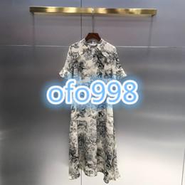 Discount white midi pencil dress - High end women girls dress animal print Short sleeve dress silky tops Cheongsam Oversize Fashion Chinese Bridal Dresses