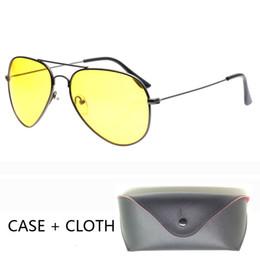 $enCountryForm.capitalKeyWord UK - Pilot Night Vision Sunglasses Men Women Goggles Glasses UV400 Alloy Sun Glasses for women men Driver Night Driving with case