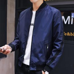Full Zip Jacket Polyester Australia - Men's Lightweight Jacket Full-Zip Windbreakers Soft Shell Men Coats Hoodie