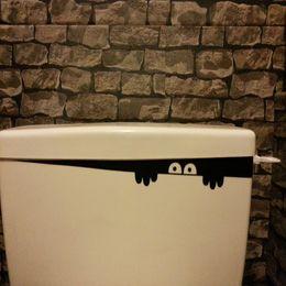 Bathroom Funny Wall Stickers Australia - 1PC HOT DIY Funny Peep Monster Toilet Bathroom Vinyl Wall Sticker Decal Art Removable Home Decoration