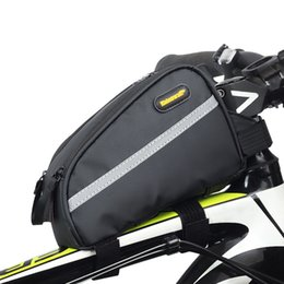 Stem Packs Australia - RHINOWALK Bicycle Waterproof Top Tube Bag Mountain Bike Stem Pannier Cycling Road Bike Gear Bag Pack Bicycle Triathlon