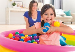 Intex Small 6.5cm Large 8cm Fun Colored Ball Ocean Ball Wave Ball 100 Pack 49602 49600