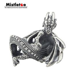 Silver Emerald Jewelry Australia - Mistletoe 925 Sterling Silver Ice Fire Dragon Charm Bead Fit European Bracelet Jewelry J190618