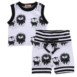 Cotton Tale Baby Australia - Baby boy girl clothes New bebe 0-24 M Summer Kids hedgehog and fox Fairy tale kingdom Shirt + Short Clothing Sets Toddler