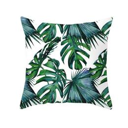 Wholesale Decorative Pillows Nordic Tropical Plants Print Cushion Cover Polyester Throw Pillow Sofa Home Decor Pillowcase