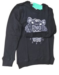 Tiger hoodies online shopping - New Brand Sweatshirts Pull Embroidery Tiger Head Hoodie Paris Unisex Casual Jumpers Streetwear colors KE Z