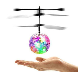 Light Helicopters Toy Australia - Hot new Flying RC Ball Aircraft Helicopter Led Flashing Light Up Toy Induction Toy Electric Toy Drone For Kids Children c044