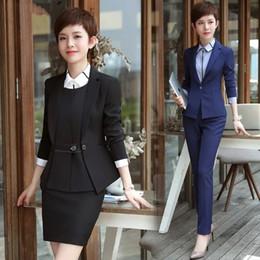 cf38788eb2c Office Ladies Uniform business womens suits set 2 pieces pants suits  tailleur femme pantalon et veste elegant Work Wear