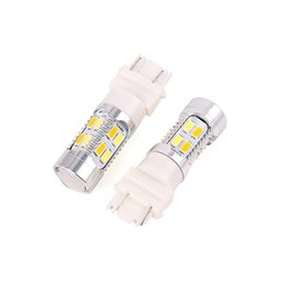 3157 tail bulb Canada - X AUTOHAUX 2pcs 3157 20 5630-SMD-LED Yellow White Car Tail Turn Signal Light Bulbs Brake Stop Backup Reverse Auto Lamp