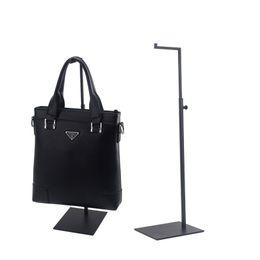 wholesale hot Black Adjustable Handbag Stand Display Metal Handbag Display Rack Women Bag Display Holder Factory from black shoe boxes for shipping manufacturers
