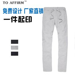 Discount health print - BSF055 Spring and Autumn Men's and Women's New Couple Health Leisure Pants Pure Large Sports Pants