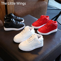 Korean style dress shoes online shopping - 2017 Spring New Fashion Girls Boys Shoes Leather Elastic Korean Version Of The British Style Casual Dress Flat School Shoes Y190525