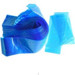 $enCountryForm.capitalKeyWord NZ - Pro Disposable Plastic Blue Tattoo Clip Cord Sleeves Cover Bag Professional Tattoo Accessory for Tattoo Machine Supply 100pcs set R0547