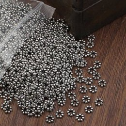 Red Metal Jewelry Australia - silver round 500pcs lot Spacer Metal Zinc Alloy Round Beads DIY Jewelry Making Accessories 5mm Hole:2mm (K02822)