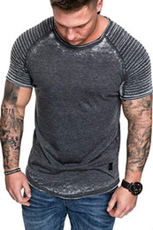 $enCountryForm.capitalKeyWord NZ - Designer Mens Sports Tshirts Casual Short Sleeved O-neck Quick Dry T-shirts Fashion Mens Draped Tops