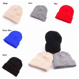 5 colors Winter Hats For Kids Beanies Warm Hat Knit Beanies Slouchy Hats  Cute Boys Knitted Skullies Cap Children Baggy Caps MMA535 60pcs 77c7084a76c5