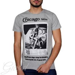 $enCountryForm.capitalKeyWord Australia - T-Shirt Print Chicago Crew-neck Various mens pride dark t-shirt white black grey red trousers tshirt suit hat pink t-shirt