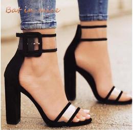 Designer Dress Shoes Plus size 34-43 Donne tacchi alti donne Platform Peep Toe Buckle Pumps Wedding Party Dress donna Zapatos Mujer W754 in Offerta