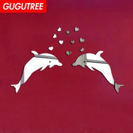 $enCountryForm.capitalKeyWord Australia - Decorate Home 3D dolphin cartoon mirror art wall sticker decoration Decals mural painting Removable Decor Wallpaper G-293