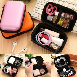 Headphones Jewelry Australia - New Hot Selling Square Earphone Storage Bag Carrying Case for Earphone Headphone Earbuds Pouches 6 Colors 12 x 8 x