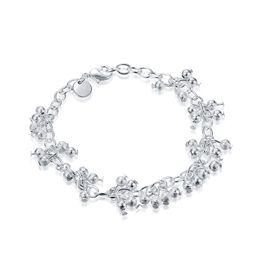 $enCountryForm.capitalKeyWord NZ - Romantic Bracelets Hanging Grape Sand Beads Silver Plated Link Chain Bangles&Bracelet 925 Silver Elegant Jewelry Hot Selling Gifts POTALA087