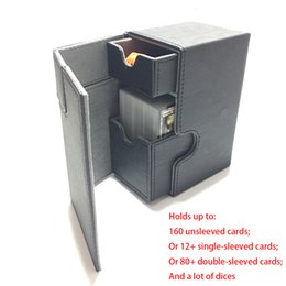 deck cards NZ - Middle Size Card Box Deck Box Deck Case For Magic Board Game Cards: Black Color SH190907