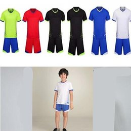 $enCountryForm.capitalKeyWord NZ - 2019 Soccer Uniform kids Kit Blank Football Training Shirt Sport Wear Shorts Soccer Jersey Uniform Kit Customize #5018