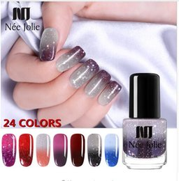 Winter nails online shopping - Hot ml Winter Thermal Nail Polish Glitter Temperature Color Changing Fast Dry Manicure Varnish Gradient Nail Lacquer