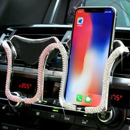 $enCountryForm.capitalKeyWord Australia - Universal With Crystal Rhinestone Air Vent Mount 360 Degree Phone Holder Stand In Car For Iphone Samsung Lowest pricelow price