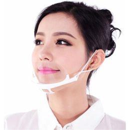 DHL Ücretsiz Toptan Eşya 100pcs Sağlık Aracı Şeffaf Maskeler Daimi Karşıtı Sis Catering Gıda Otel Plastik Mutfak Restoran Maskeleri
