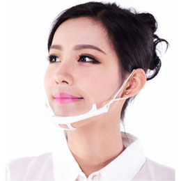 Ingrosso DHL Shiping 100PCS strumento Health Care mascherine trasparenti permanente Anti Fog Catering Food Hotel plastica maschere Kitchen