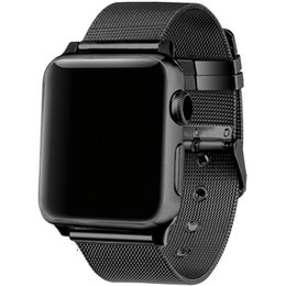 Connector Strap Australia - FOHUAS milanese loop Series 3 2 1 replacement bracelet band iwatch stainless steel strap buckle with connector