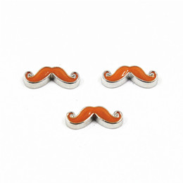 Chinese  Wholesale 50pcs lot Enamel Beard Moustache Floating Charms For Living Glass Floating Lockets Necklace & Bracelet DIY Jewelry manufacturers