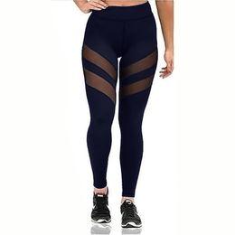 sexy yoga pants for women 2019 - Leggings for Women Fitness Plus Size Sports Yoga Pants Sexy Hollow Leggings Tight Trousers Mesh Size S-3XL cheap sexy yo