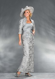 $enCountryForm.capitalKeyWord NZ - 2019 New with Jacket Formal Gowns Silver Satin Evening Party Gowns Mother of the Bride Dresses 122